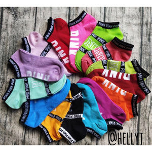 15 pairs for $27 VS PINK no show socks